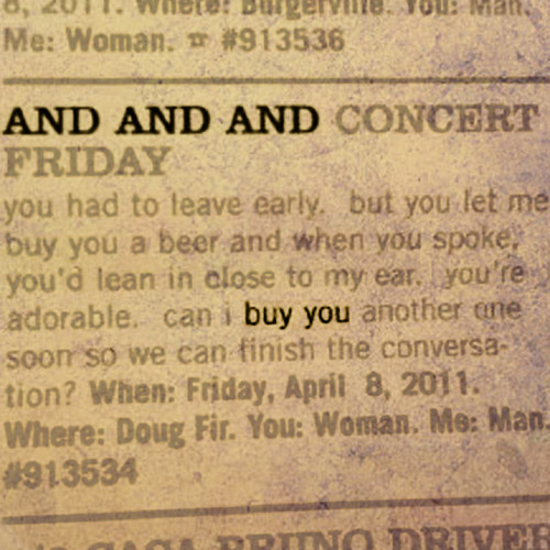 And And And - Buy You