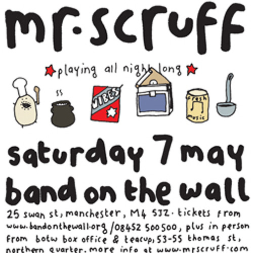 Mr Scruff live DJ mix from Band On The Wall, Manchester, Saturday May 7th 2011