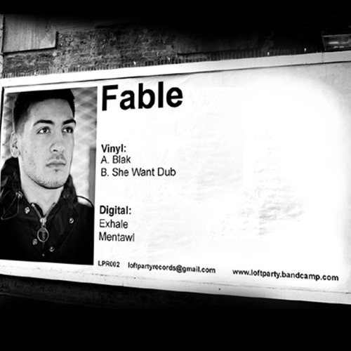 "Fable - She Want Dub - LPR002 (12"" Vinyl Release)"