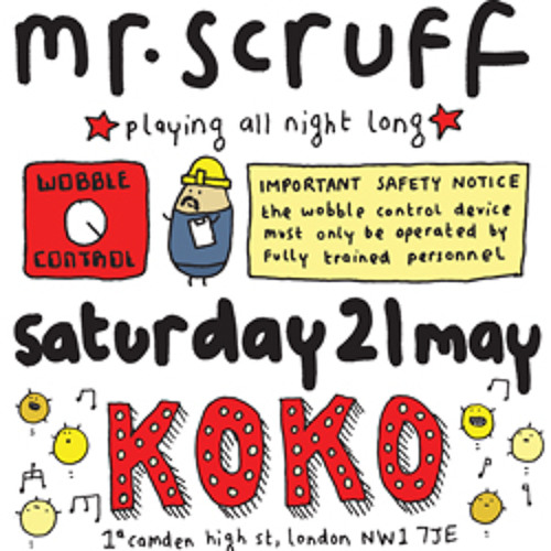 Mr Scruff live DJ mix from London Koko, Saturday 21st May 2011