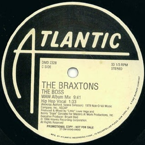 The Braxtons - The Boss Masters At Work Dub - Atlantic 1996