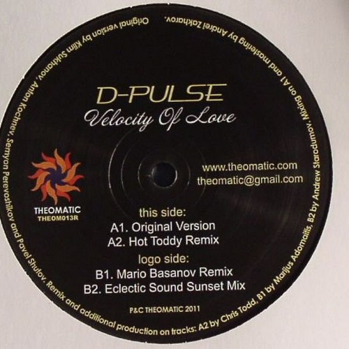 D-Pulse - Velocity of Love (Mario Basanov Remix) 12""
