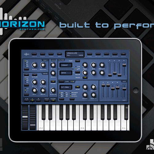 Horizon synth for iPad - playing with some presets