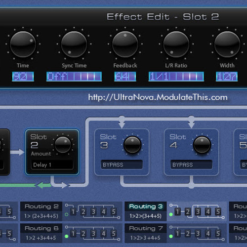 Ultranova.modulatethis.com Effects Routing Test