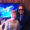 Rehearsing with Nancy Bea before @Dodgers game. #ThinkCure at Dodger Stadium