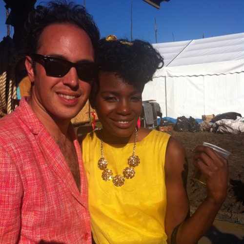 Noisettes just wrapped at Cowshed Studios Glastonbury