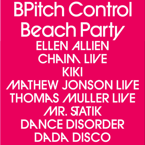 Bayla la Playa Mix - BPitch Control Beach Party SONAR 2011