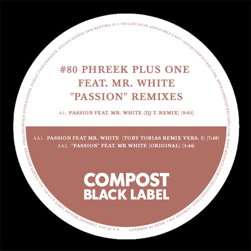 Phreek Plus One feat. Mr. White - Passion (Toby Tobias Remix Version 3)