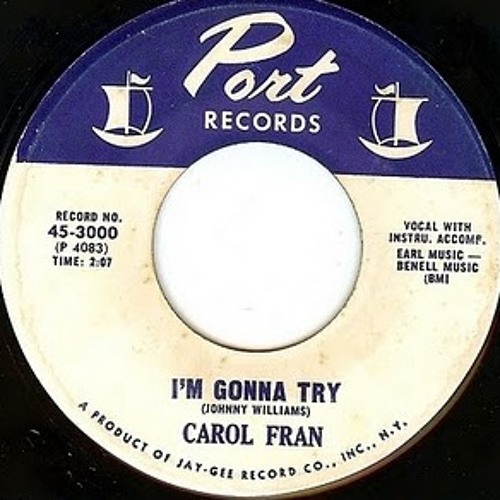 "CAROL FRAN - ""I'm Gonna Try (Jeremy Sole remix)"""