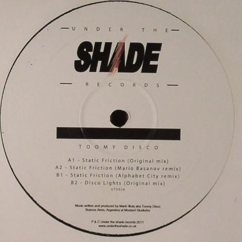 "Toomy Disco - Static Friction (Mario Basanov Remix) 12"""