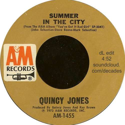 Quincy Jones Summer In The City dL's scratchy old record edit