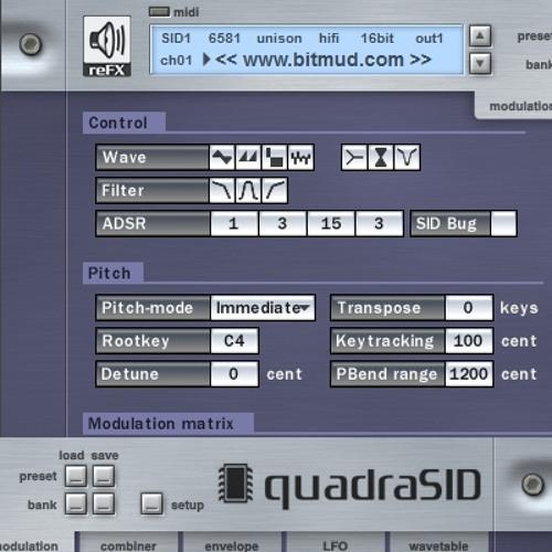 quadraSID Bitmud Unison Soundbank Demo - download at http://www.bitmud.com