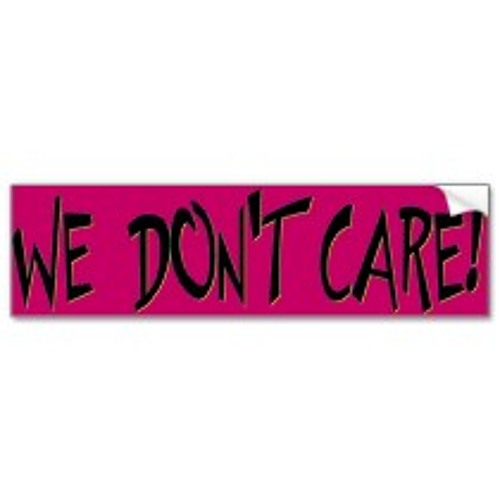We Dont Care