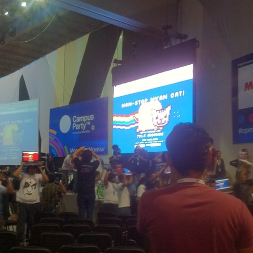 Nyan Cat non stop! #cpmx3 at Campus Party Mexico