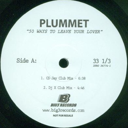 Plummet - 50 Ways to leave your lover - CS-Jay Remix (2005)