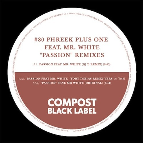 Phreek Plus One - Passion (Sportloto Tahyon Mix) (Compost Black Label #80, 2011)