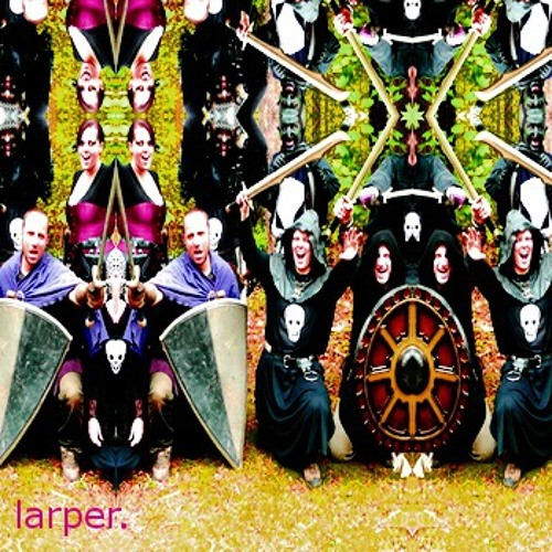 larper (paper sword, imaginary dragon edit)