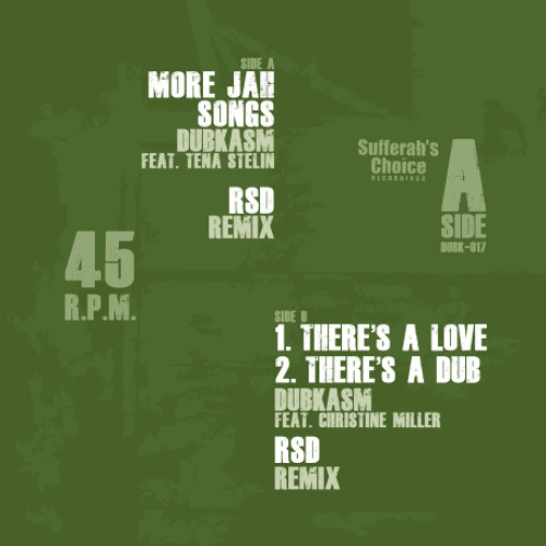B1 - DUBK017 - THERE'S A LOVE (RSD REMIX)
