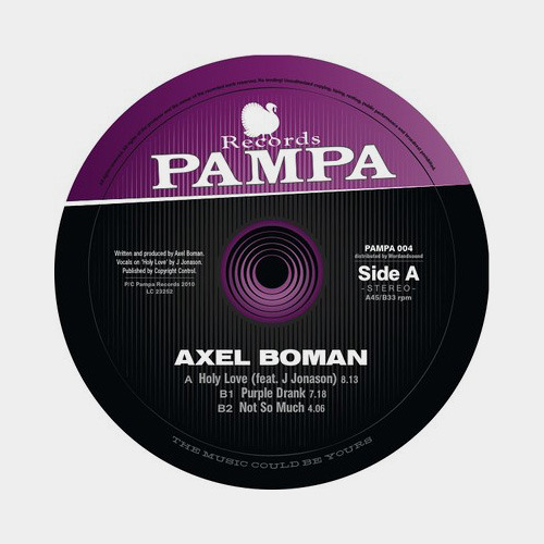 Axel Boman - Not So Much - Pampa Records