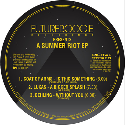 'Summer Riot' EP - Is This Something - Coat of Arms
