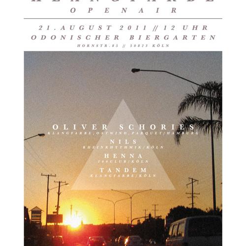 Oliver Schories - DJ Set @ Odonien (Cologne) 21-08-2011