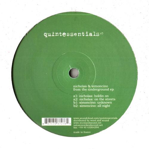 "QUINTESSE23 - Nicholas - ""Holdin On"""