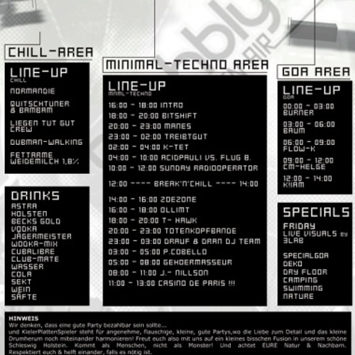Live recording Dj set at BACHBLYTEN FESTIVAL 2010