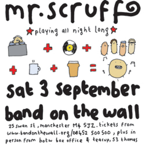 Mr Scruff live DJ mix from Band On The Wall, Manchester, Saturday September 3rd 2011