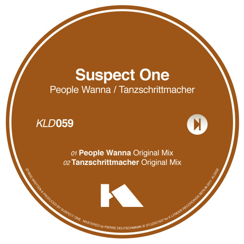 Suspect One - People Wanna <Out now on K:lender Records>