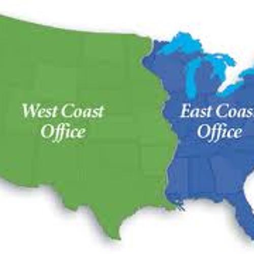 East coast to west coast