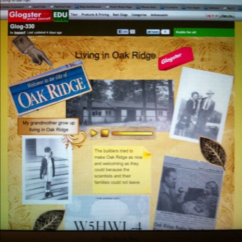 Discussing Oak Ridge Glogster Project at Oklahoma City, OK
