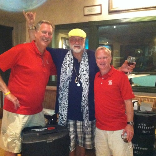 Mick Fleetwood with Mark and Dave