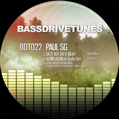 Paul SG - Do It But Do It Right [BDT022a] preview