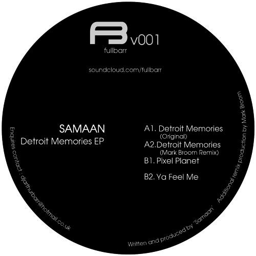"""12"""" 001 Samaan - Detroit  Memories [inc's Mark Broom Remix]"""