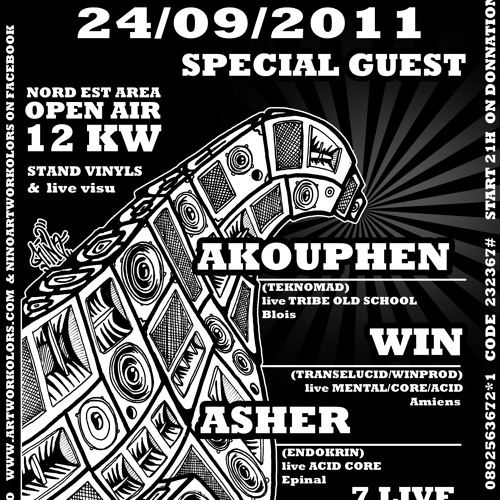 Akouphen Old School Live set @ LEDS free party 24092011(Herbitzeim)