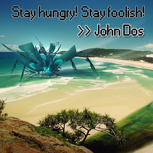 Stay hungry! Stay foolish!