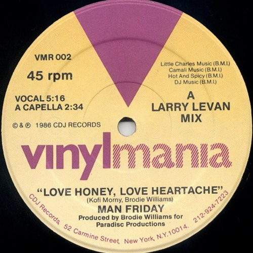 Man Friday - Love Honey (Leftside Wobble Edit)