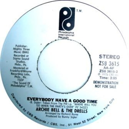 ARCHIE BELL & THE DRELLS - EVERYBODY HAVE A GOOD TIME (CITYSOUL EDIT)