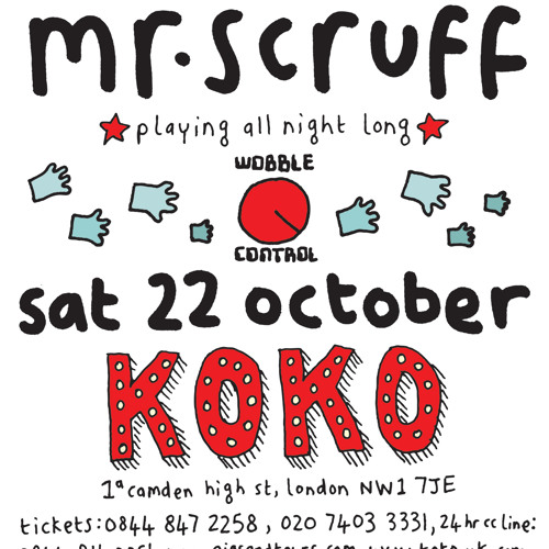 Mr Scruff live DJ mix from Koko, London, Saturday October 22nd 2011