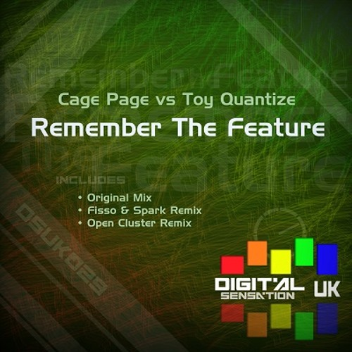 DSUK029 - Cage Page vs Toy Quantize - Remember The Feature (Open Cluster Remix)