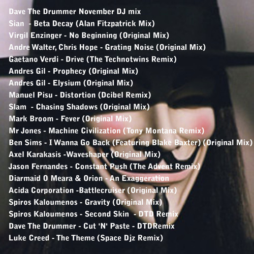Dave The Drummer - November mix