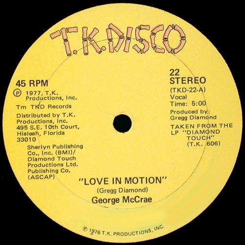 George McCrae ''Love In Motion'' (Special Mix For DJs Only) Demo INA-0013-HG