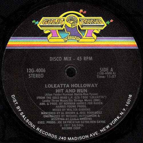 Loleatta Holloway ''Hit & Run'' (Version # 2) Demo SNC-004-AS-B2