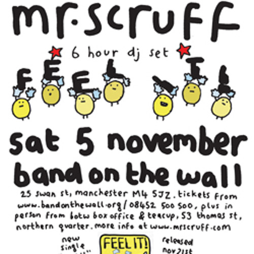 Mr Scruff live DJ mix from Band On The Wall, Manchester, Saturday November 5th 2011