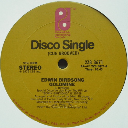Edwin Birdsong ''Look Inside Your Goldmine'' (Version Edit #1) BYD-004-SC
