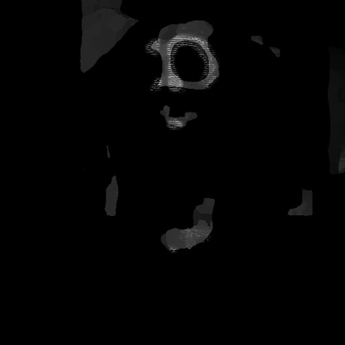 Twisted shadow mask