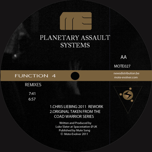 Mote027 :: P.A.S - Function 4 / Claptalk System (Chris Liebing + Marcel Dettmann Remixes + Original)
