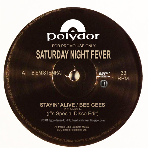 Bee Gees - Stayin' Alive (jf's Special Disco Edit)