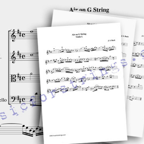 Bach Air on a g string for string quartet by musicforstrings