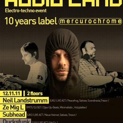 DJ Ze MigL live set@Audioland3@switzerland with Neil Landstrumm SubHead ducksfunk  12Nov2011